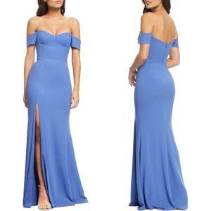 DRESS THE POPULATION Logan Off the Shoulder Dress
